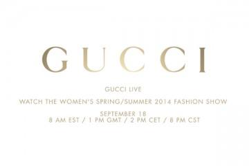GUCCI SS14 Livestream
