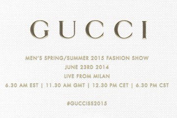 Gucci Spring 2015 Menswear Live Streaming