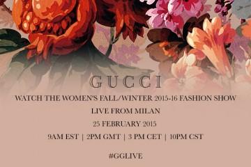 Gucci Fall 2015 RTW Live Stream