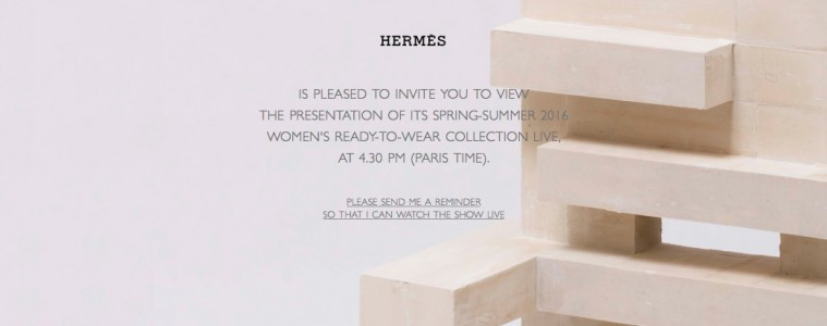Hermès Spring 2016 RTW Live Stream