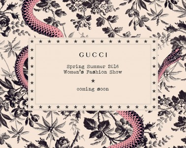Gucci SS 16 Live Streaming