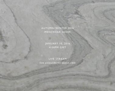 Alexander McQueen Fall 2016 Menswear Live Stream