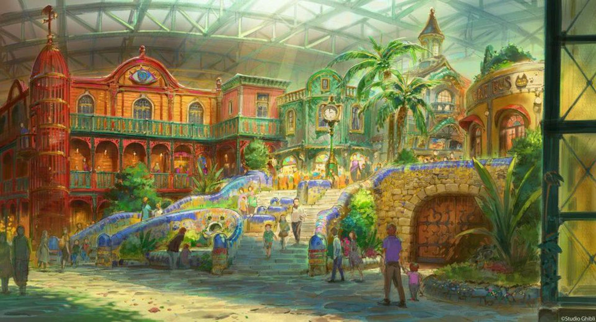 New Concept Art for the Studio Ghibli Theme Park Just Dropped